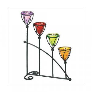 3864800: Jewel Toned Candleholder