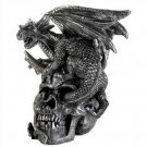 1290100: Skull and Dragon Figurine