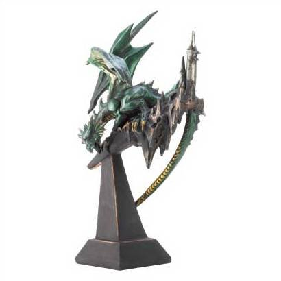 1270300: Emerald Dragon Statue