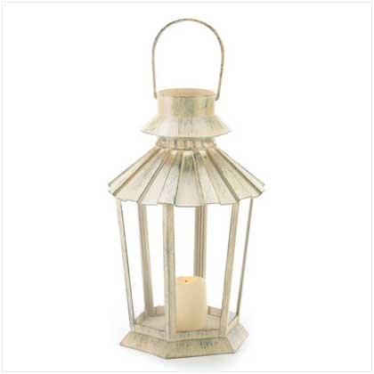 3989200:  Weathered Ivory Garden Lantern