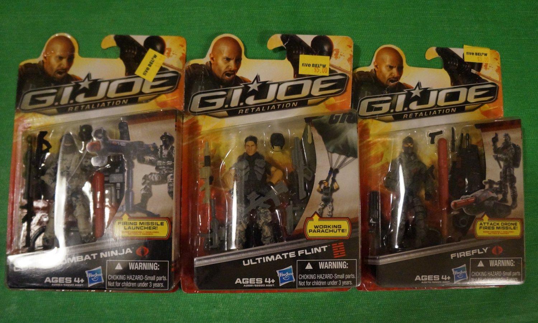 GI Joe Retaliation Cobra Combat Ninja, Ultimate Flint, and Firefly Set