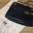 lambskin CHANEL in black from approx late 80s to early 90s