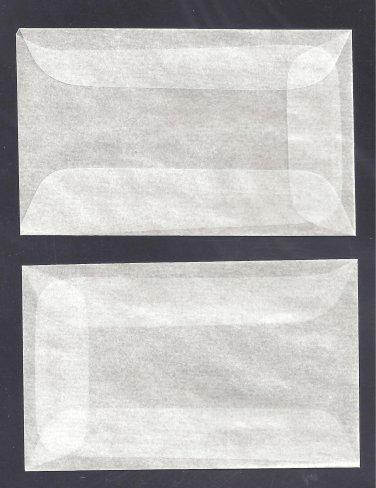 100 #1 Glassine Envelopes ( 1 3/4 x 2 7/8 inches )