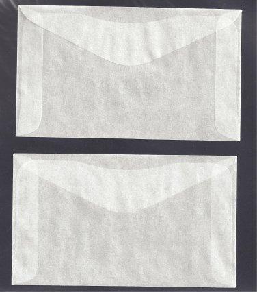 100 #3 Glassine Envelopes  ( 2 1/2 X 4 1/4  )