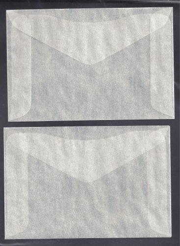 100 #4 Glassine Envelopes ( 3 1/4 x 4 7/8 )