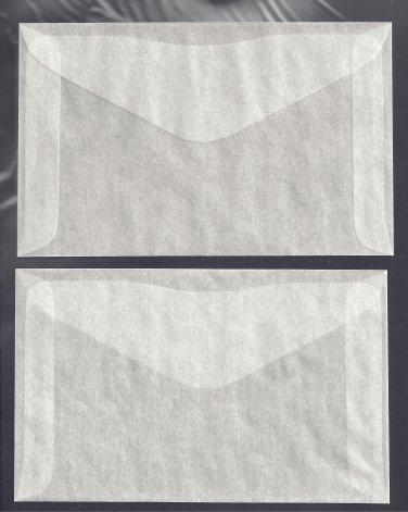 100  #4 1/2  ( 4H )  GLASSINE ENVELOPES ( 3 1/8 x 5 1/16 INCHES )