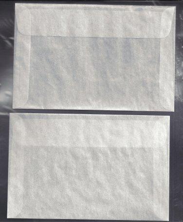 100 #7 Glassine Envelopes  ( 4 1/8 x 6 1/4 inches )