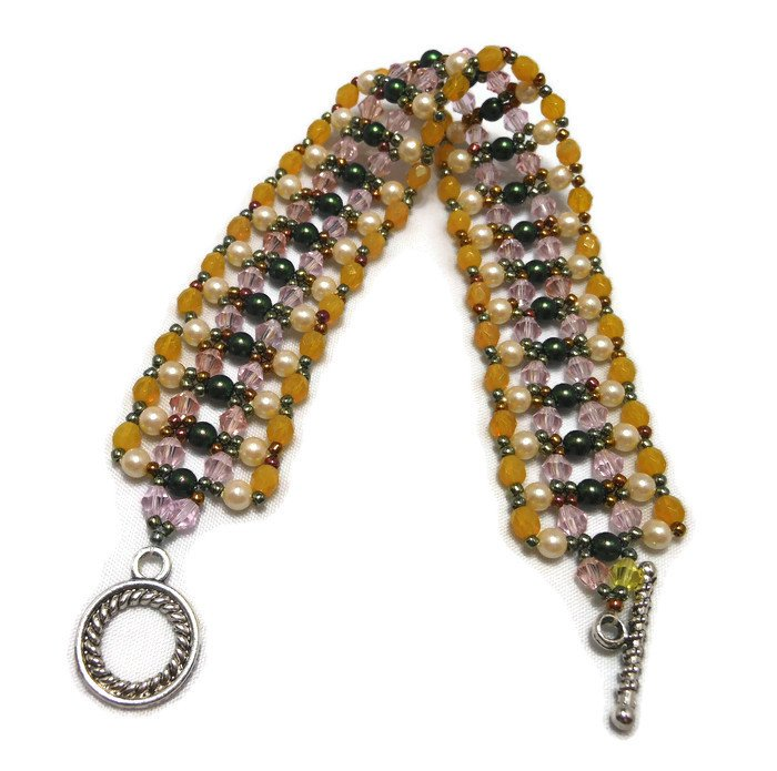 Hand Made Women's Crystal Cuff Bracelet (B04253)
