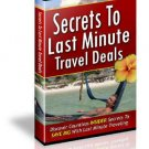 Last Minute Travel Secrets