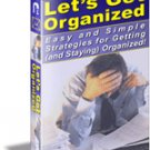 Get Organized In Home and Life