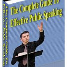 Complete Guide To Effective Public Speaking Ebook