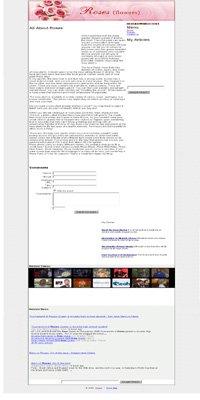 Roses Adsense Integrated Website