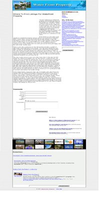 Waterfront Property Adsense Integrated Website