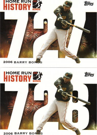 2 Barry Bonds Topps Home Run History Cards