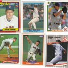 6 Roger Clemens Red Socks cards