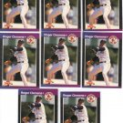 (8) Roger Clemens Boston Red Soxs Cards