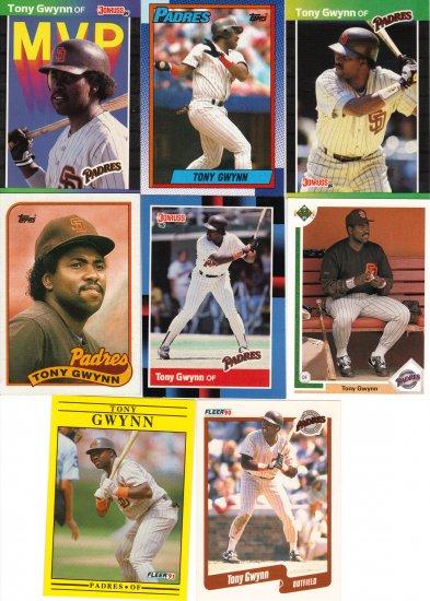 (12) Tony Gwynn Cards of HOF'er