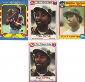 (4) Very RARE Tony Gwynn cards
