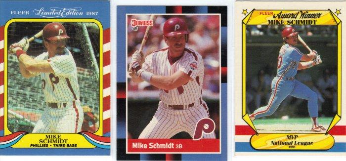 (3) Mike Schmidt cards