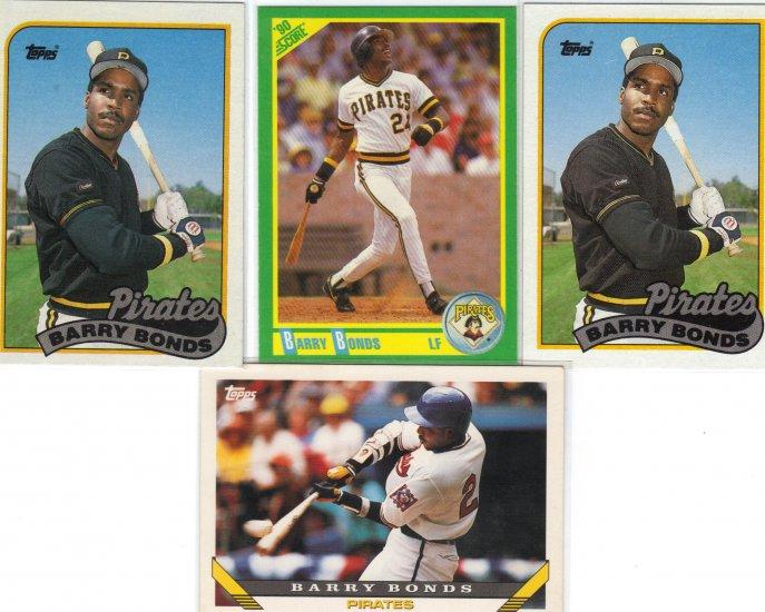 (4) Barry Bonds Pirates cards