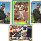 (4) Barry Bonds Pirates cards