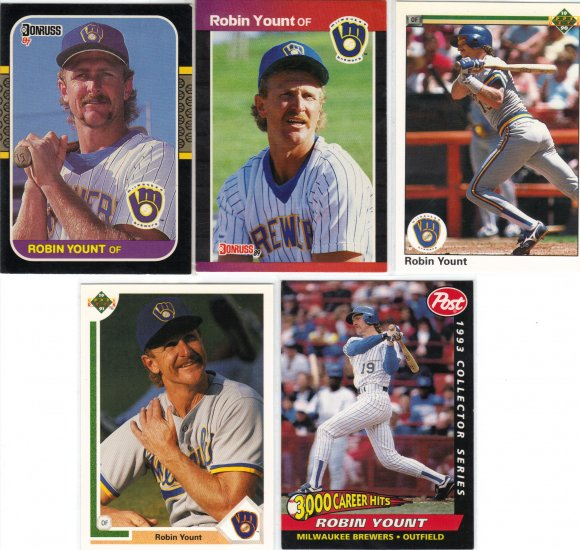 (5) Robin Yount Cards