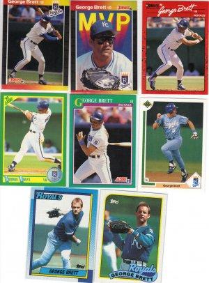 (8) George Brett KC Royals Cards