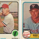 73 Buddy Bell All-Star Rookie + 81 Fleer