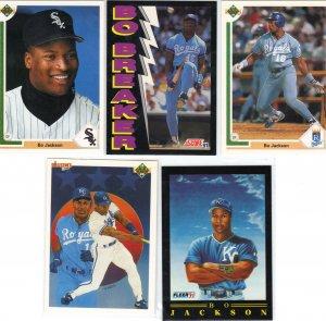 (8) Bo Jackson Cards
