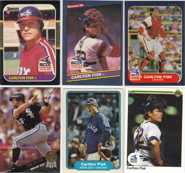 (5) Carlton Fisk Cards