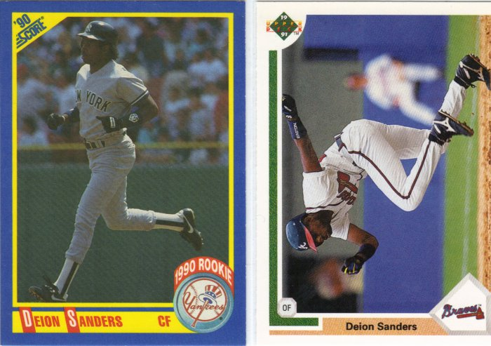 (5) Deion Sanders Rookie Cards + Upper Deck Card