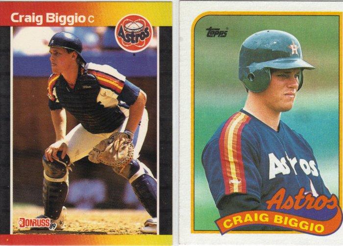 (12) Craig Biggio Rookie Cards