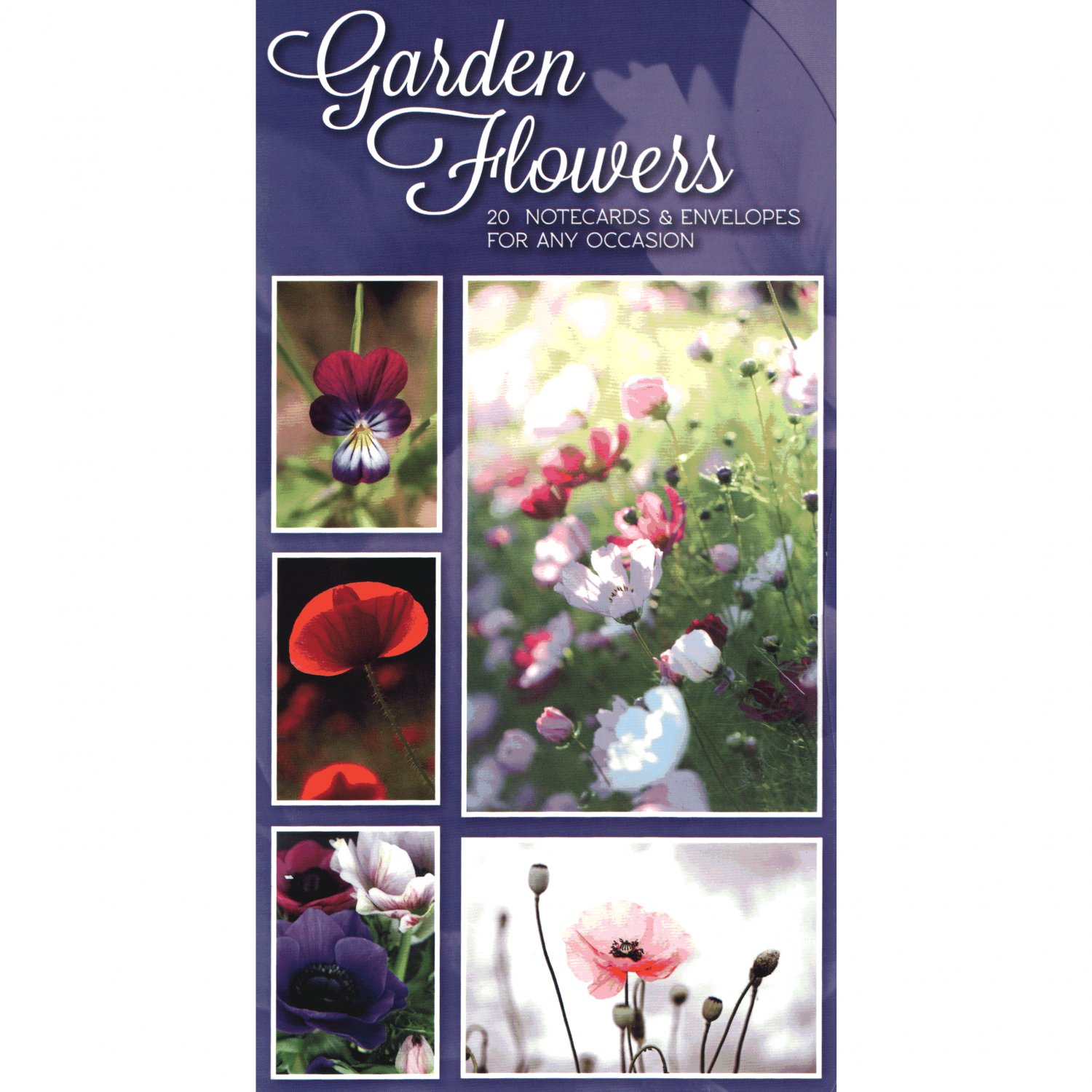 English Garden Flowers - Attractive Set of 20 Notecards and Envelopes