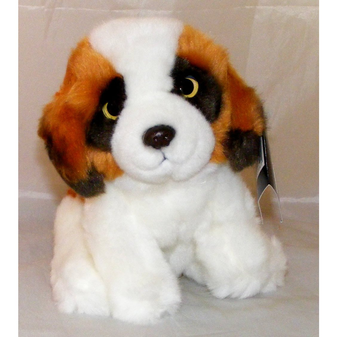Brown and White Puppy Plush Soft Toy