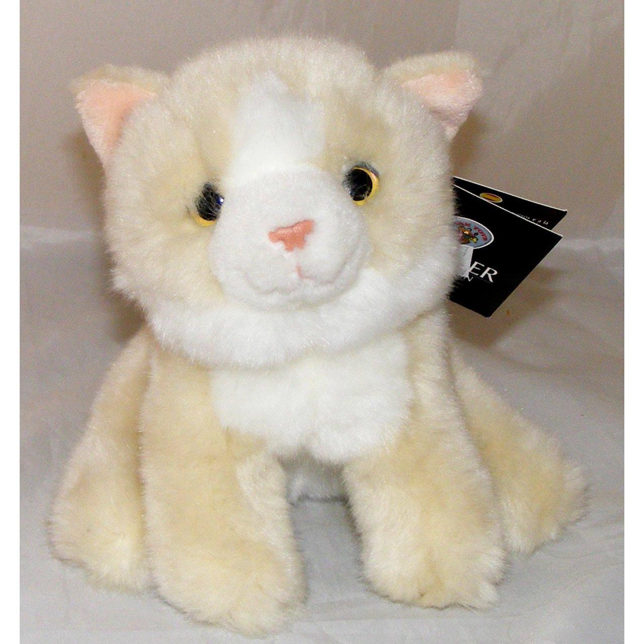Cream and White Kitten Plush Soft Toy