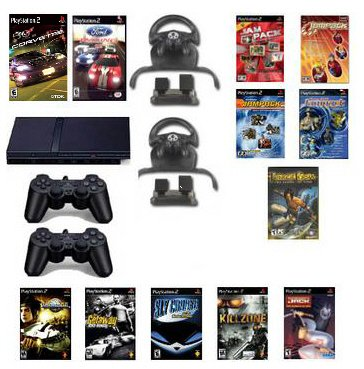 Mega Racing Bundle 2 Racing Wheels 13 Games and more.