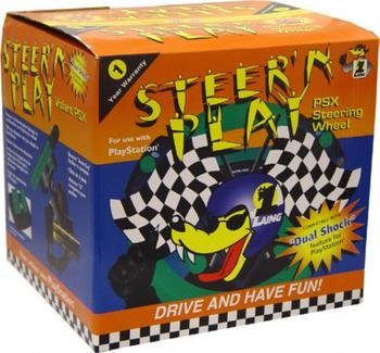 Playstation One Steer N'PLay Racing Wheel With Pedals