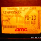 """The Simpsons Movie"" Ticket Stub"
