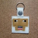 MC White Sheep Felt Key Ring