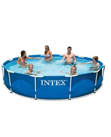 Intex 12ft X 30in Metal Frame Pool Set Filter Pump Above Ground Round Swimming