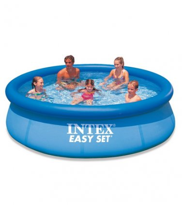 Intex 10 x 30 Easy Set Above Ground Swimming Pool w/ 530 GPH Filter Pump 56921EG