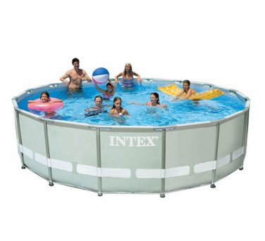 Intex 16ft X 48in Ultra Frame Pool Set with Filter Pump & Saltwater System