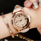 Fashion Women Luxury Leisure Set Auger Diamond Dial Analog Stainless Steel Quartz Watch