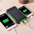 DCAE Real 10000mAh Power Bank Waterproof Shock drop resistance Dual USB Travel Solar Charger