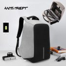 Anti-theft Men Backpack Casual Fashion Laptop Notebook School Bag with USB Port