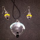 custom Color Paraglider necklace and earrings set
