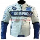 BMW COMPAQ Motorcycle Cowhide Leather Armour Jacket--Free Shipping