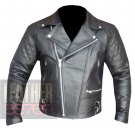 Custom 4588 Black Cowhide Leather Motorbike Safety Jacket By ButtCo Group