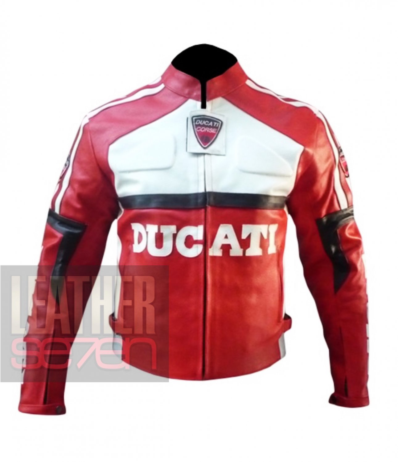 Ducati 3039 Red Outclass Cowhide Leather Motorbike Safety Jacket For Bikers