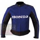 Outstanding New Arrival Cowhide Leather Motorbike Racing Jacket ... Honda 5523 Blue